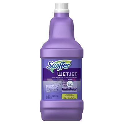 Swiffer Wet Jet Multi-purpose Floor Cleaner Solution Refill with Febreze Lavender Vanilla & Comfort Scent - 1.25L
