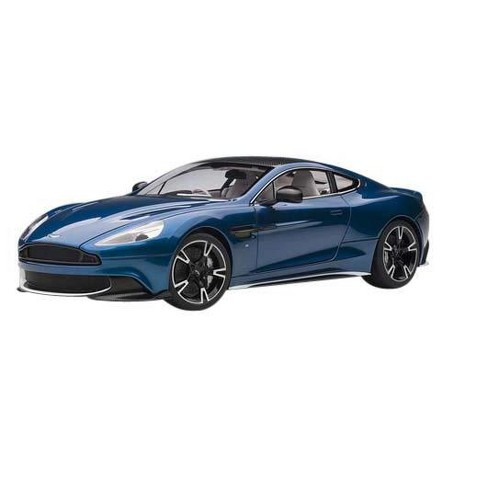 2017 Aston Martin Vanquish S Ming Blue with Carbon Top 1/18 Model Car by Autoart - image 1 of 4