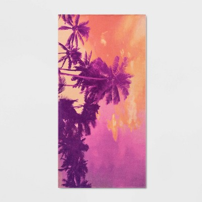 Sunset Palms Beach Towel Pink - Sun Squad™