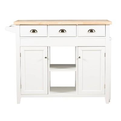 Sheridan Kitchen Cart - White - Linon