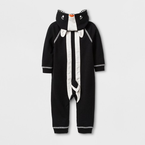 89c6566cbed8 Baby Boys  Lightweight French Terry Critter Hooded Romper With Kangaroo  Pocket - Cat   Jack™ Black   Target