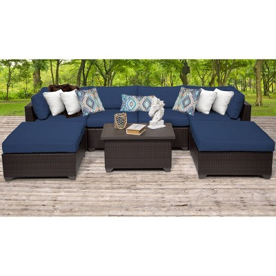 Belle 7pc Sectional Seating Group with Cushions - TK Classics
