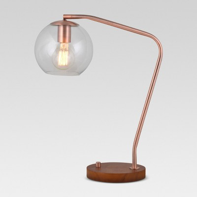 Menlo Glass Globe Desk Lamp Copper Includes Energy Efficient Light Bulb - Project 62™