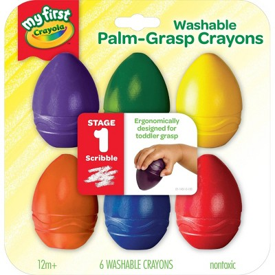 Crayola 6ct My First Washable Palm-Grasp Crayons