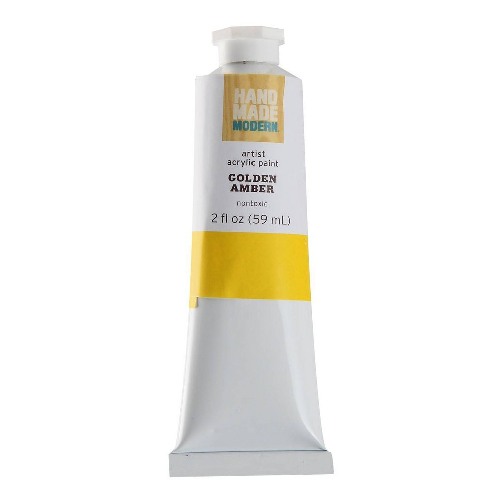 Image of 2 fl oz Acrylic Craft Paint - Hand Made Modern Golden Amber