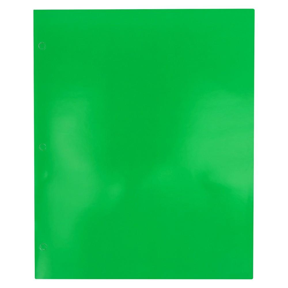 Image of 2 Pocket Paper Folder Green - Pallex