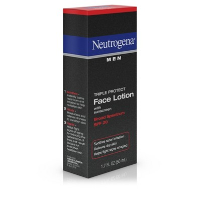 neutrogena mens face lotion