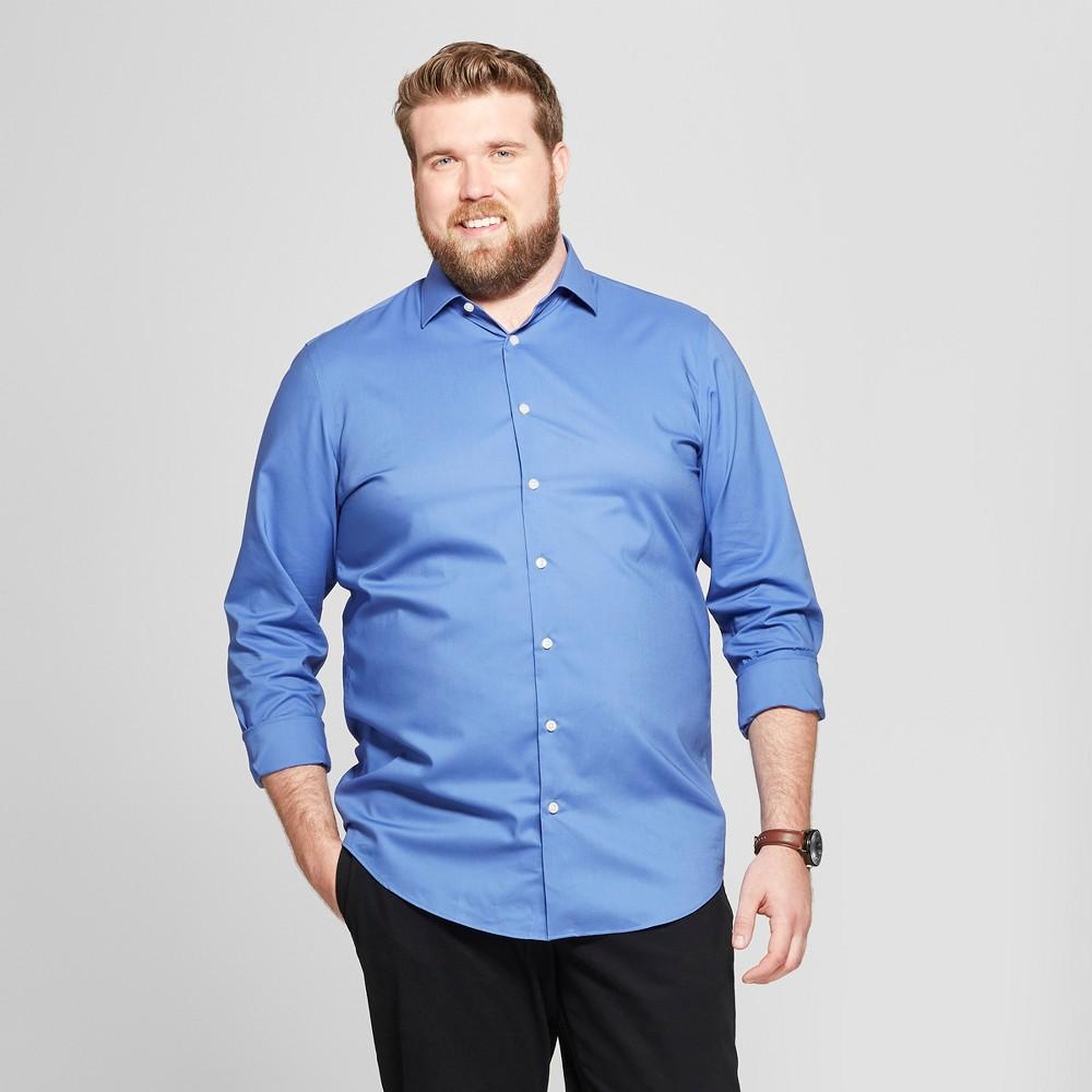 Men's Big & Tall Standard Fit Long Sleeve Button-Down Shirt - Goodfellow & Co French Blue 2XB