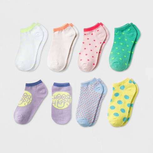 Girls' 7pk Polka Dot No Show Socks - Cat & Jack™ - image 1 of 1