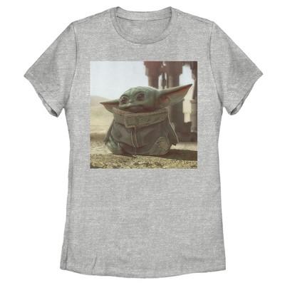 Women's Star Wars The Mandalorian The Child Square Frame T-Shirt