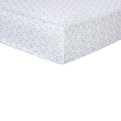 Trend Lab Deluxe Flannel Fitted Crib Sheet - Blue Circles