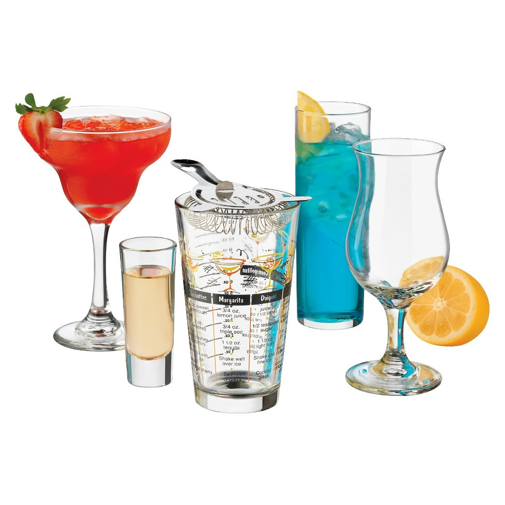 Image of Libbey Bar in a Box 18pc Assorted Shaker and Cocktail Glasses, Clear