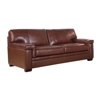 Evan Top Grain Leather Sofa Brown   Abbyson Living