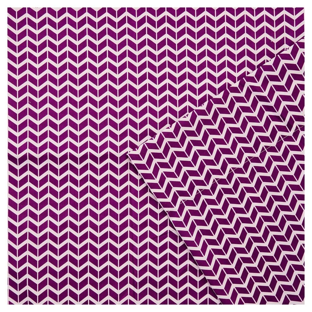 Chevron Microfiber Sheet Set Purple Twin