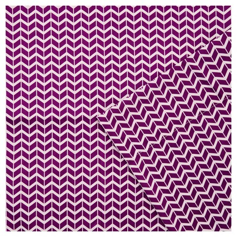 Chevron Microfiber Sheet Set Purple King Target