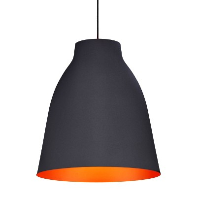 """Industrial Bronze 17"""" Curved Ceiling Lamp - ZM Home"""