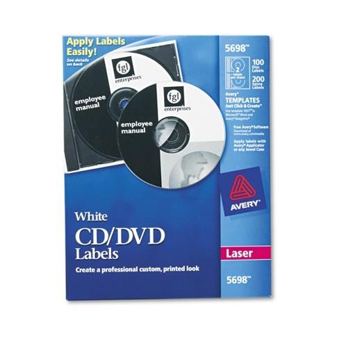 avery laser cd dvd labels matte white 100 pack target