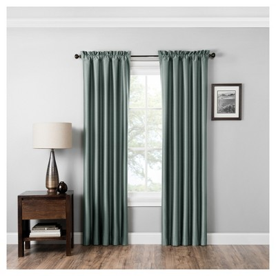 Miles Thermaback Blackout Curtain Panel Smokey Blue (42 x84 )- Eclipse Absolute Zero