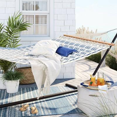 Pillowtop Hammock with Spreader Bar Navy Stripe - Threshold™
