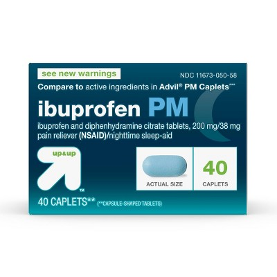 Pain Relievers: up & up Ibuprofen PM