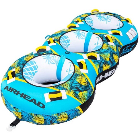 Airhead BLAST 3 Inflatable Open Top 3-Person Towable Water Tube, Tropical Blue - image 1 of 4
