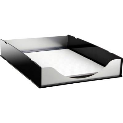Kantek Letter Tray BK Acrylic/Aluminum BA310