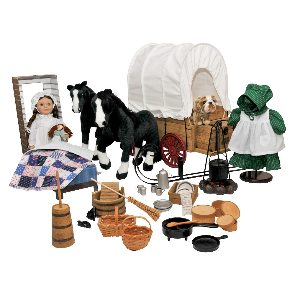 The Queen's Treasures Little House on the Prairie 18 Laura Doll & Accessory Set