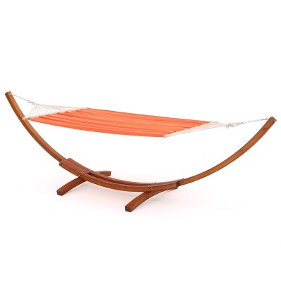 Richardson Outdoor Hammock With Base - Cream - Christopher Knight Home