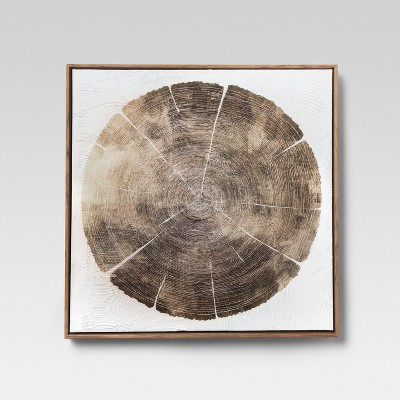 Framed Tree Ring Wall Canvas 24 X 24 - Project 62™