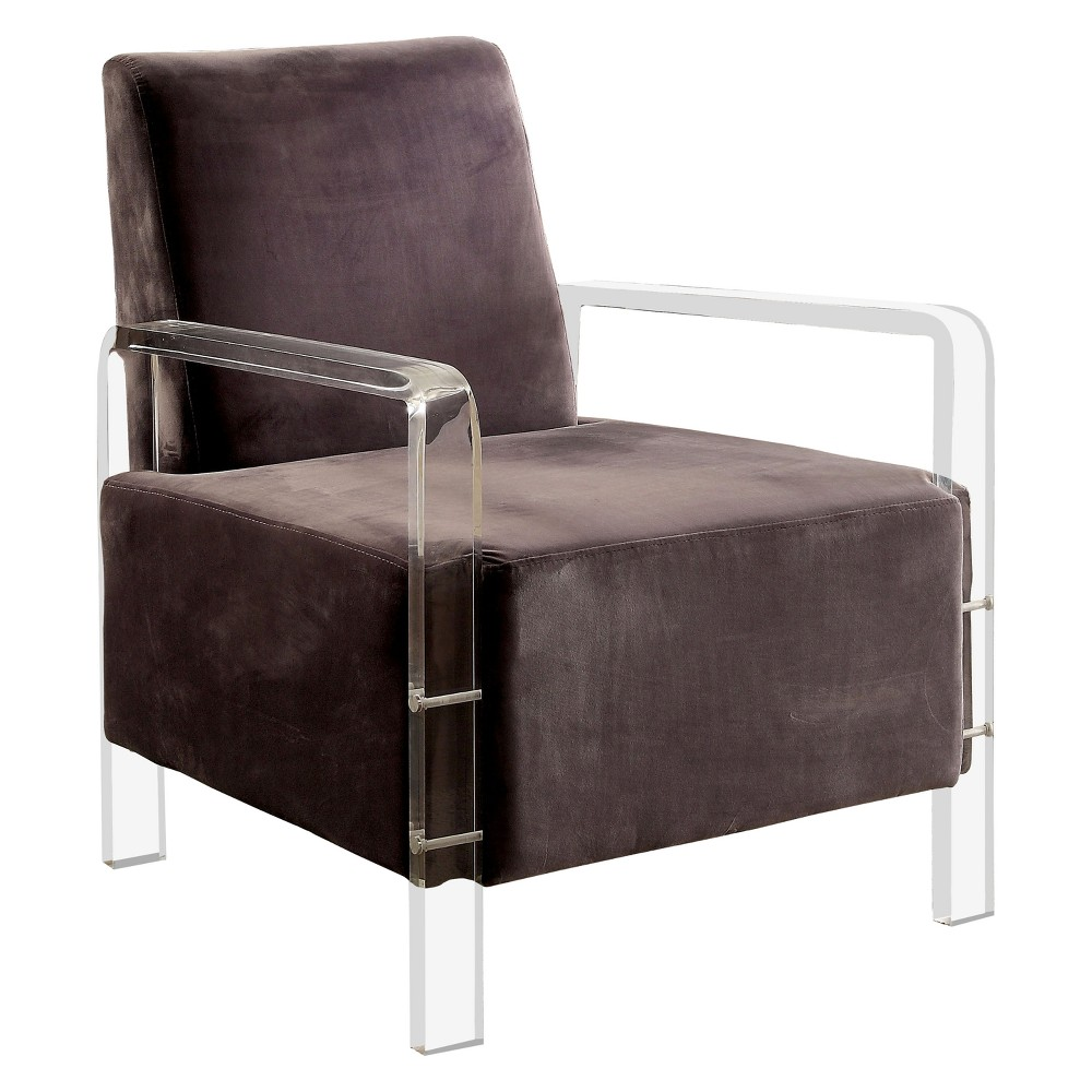 Crider Contemporary Acrylic Frame Accent Chair Gray - Homes: Inside + Out
