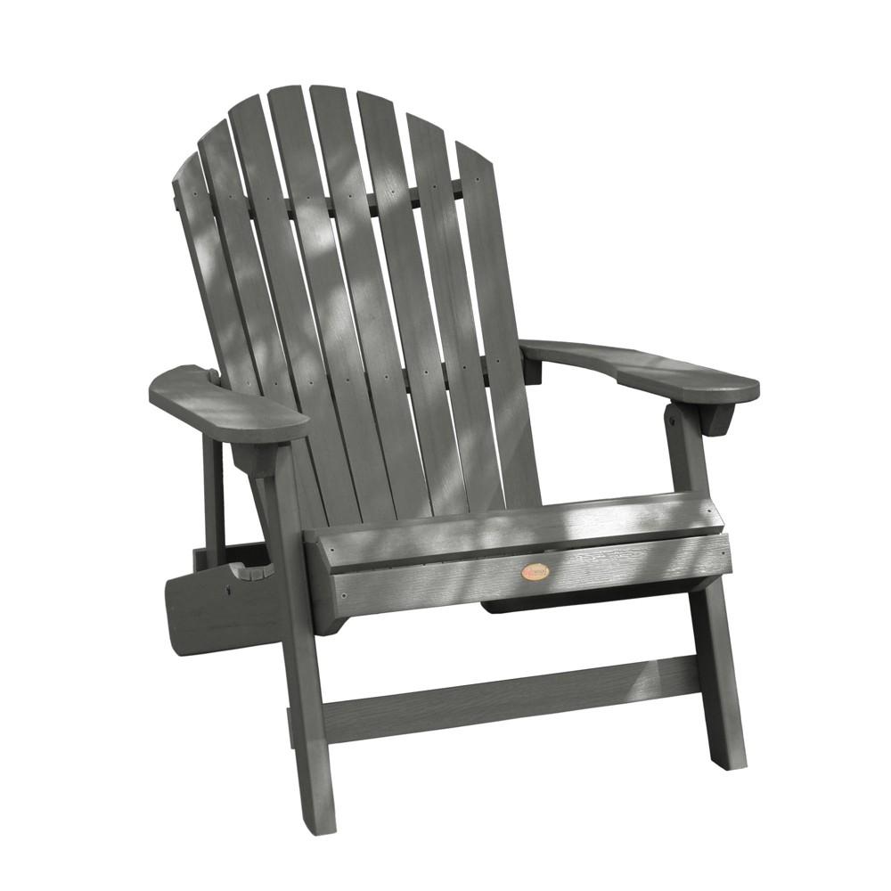 King Hamilton Folding & Reclining Adirondack Chair Coastal Teak Gray- Highwood, Coastal Teak Gray