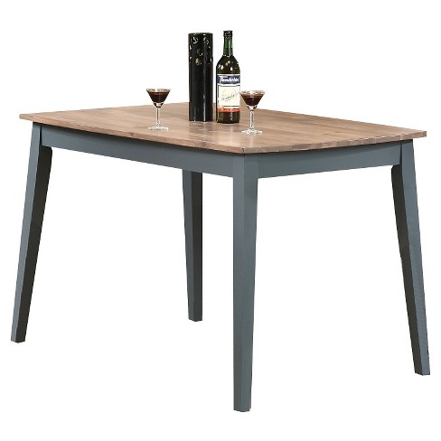 Margret Dining Table - Brown Oak and Blue - Acme - image 1 of 2