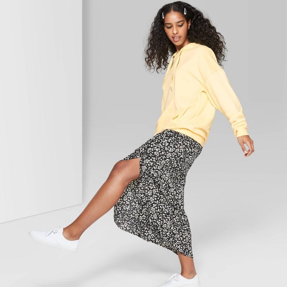 Women's Long Sleeve Oversized Hooded Sweatshirt - Wild Fable Straw Yellow XS