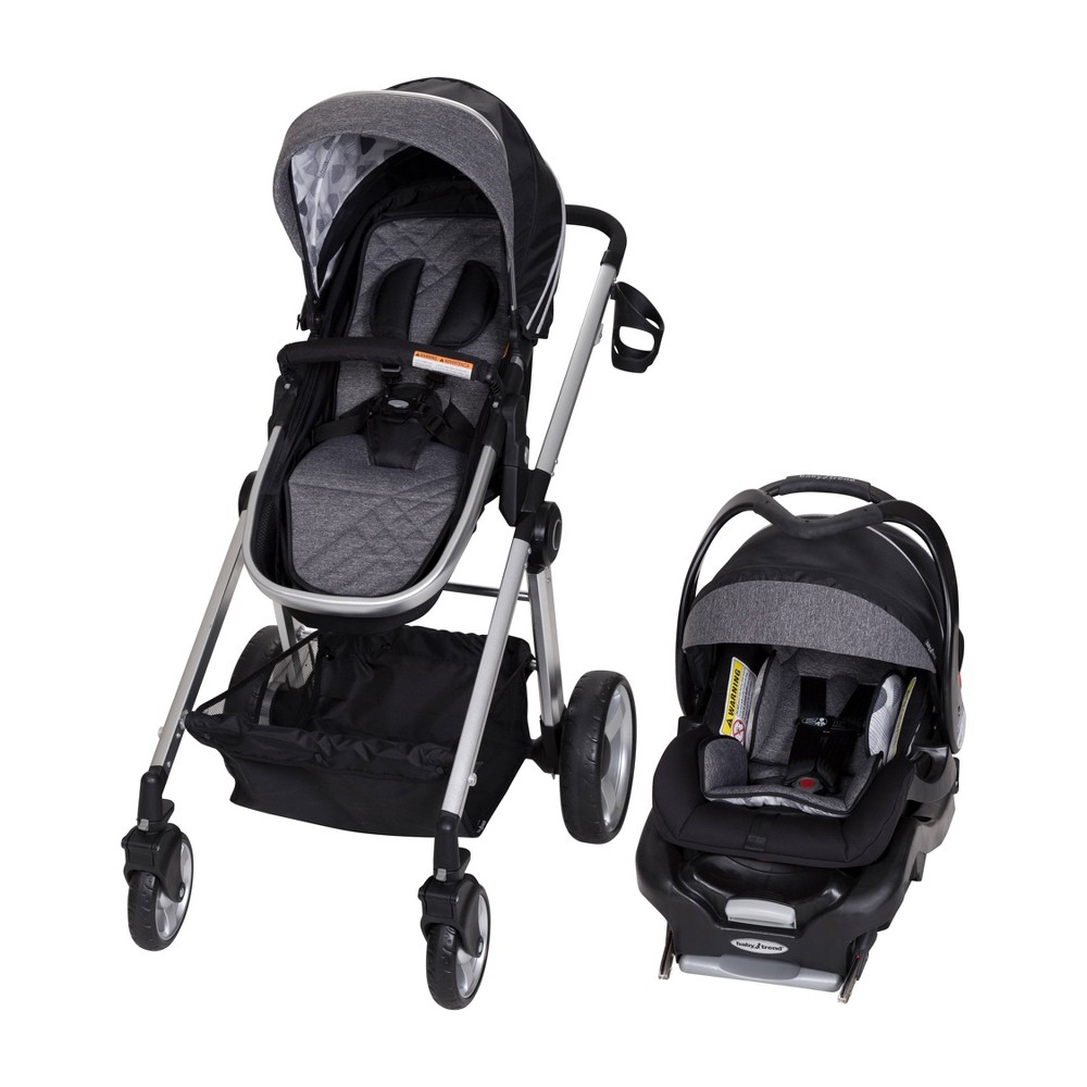 Image of Baby Trend Go Lite Snap Fit Sprout Travel System - Drip Drop Blue