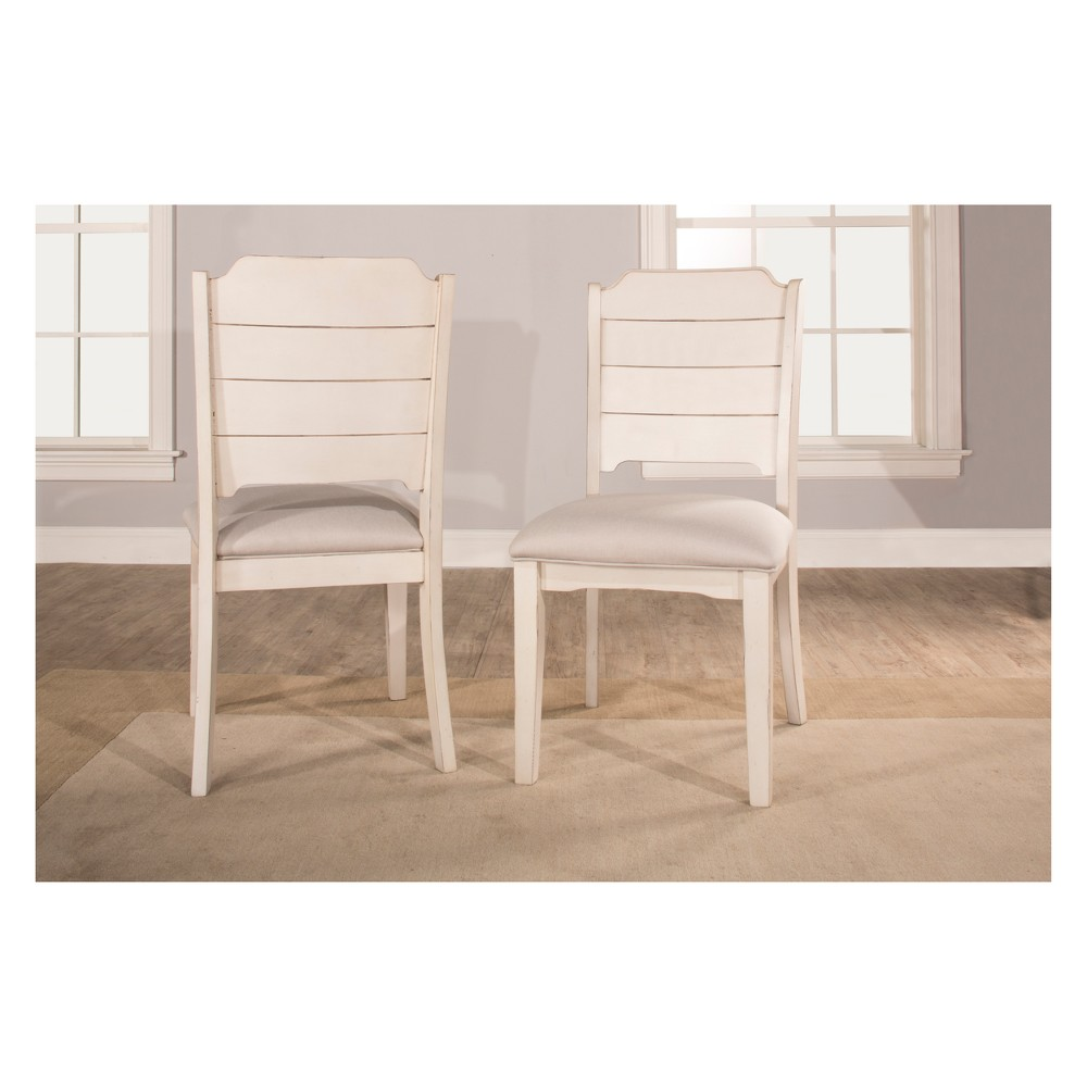 Clarion Dining Chair Set of 2 Sea White Sea White - Hillsdale Furniture