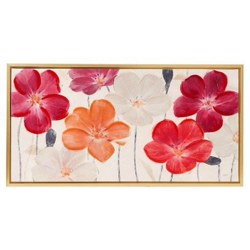 Floral Fields Hand Embellishment Canvas Art 23.62 X 43.9 X 2.4 - Trends International - image 1 of 5