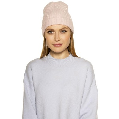 Alexia Admor Rebecca Soft Beanie With Faux Pearls