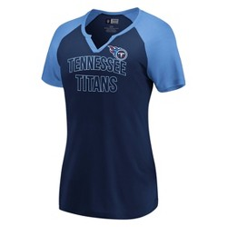 NFL Tennessee Titans Women's Extreme Difference Notch Neck T-Shirt
