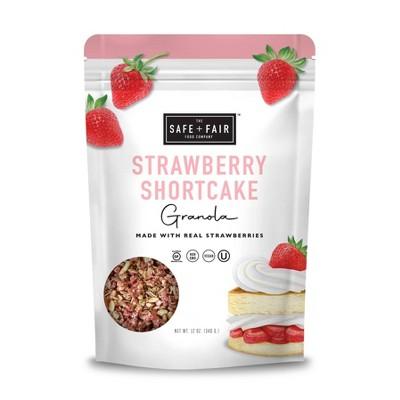 Safe+Fair Strawberry Shortcake Granola - 12oz