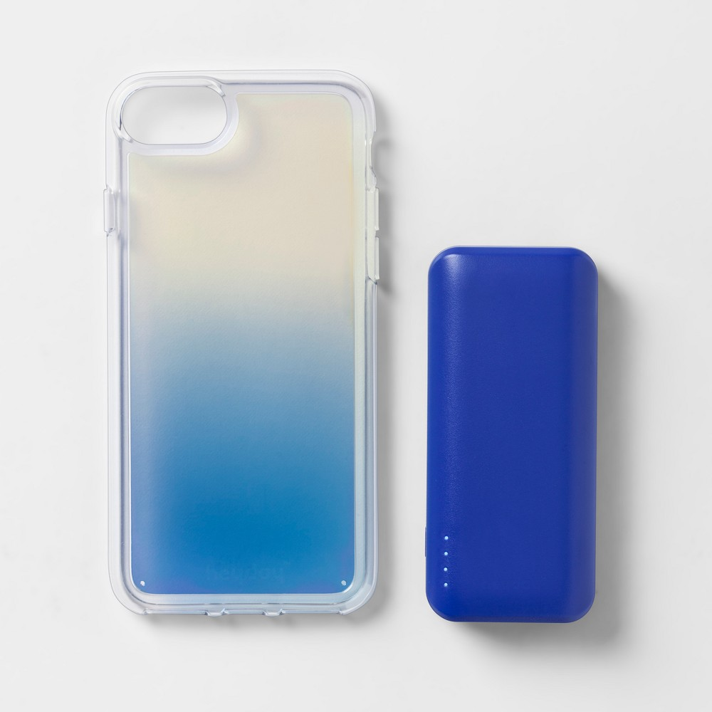 heyday Apple iPhone 8/7/6s/6 Case with Power Bank - Cool Iridescent