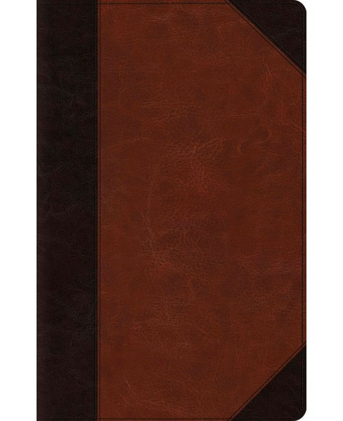 Holy Bible : ESV Thinline Reference, Trutone, Brown/Cordovan, Portfolio -  Large Print (Paperback) - image 1 of 1