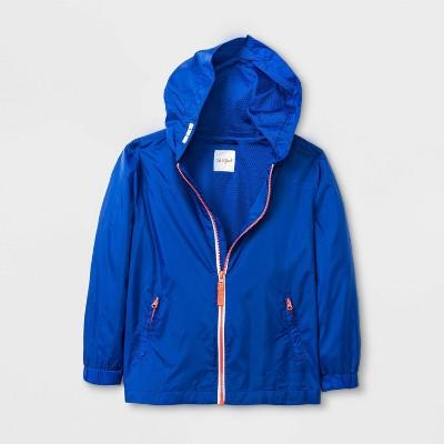 Boys' Long Sleeve Windbreaker Jacket - Cat & Jack™ Blue M