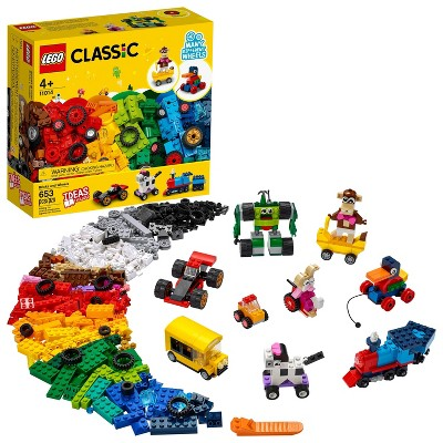 LEGO Classic Bricks and Wheels Kids' Building Toy 11014
