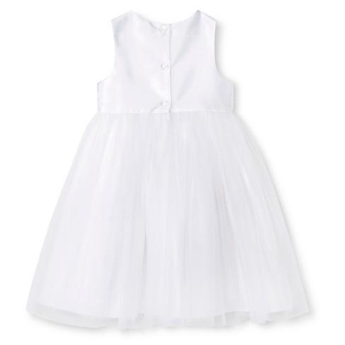 Toddler girls ballerina flower girl dress tevolio white target mightylinksfo