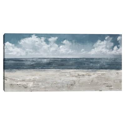 "24"" x 48"" Beach Layers Light by Studio Arts Canvas Art Print - Masterpiece Art Gallery"