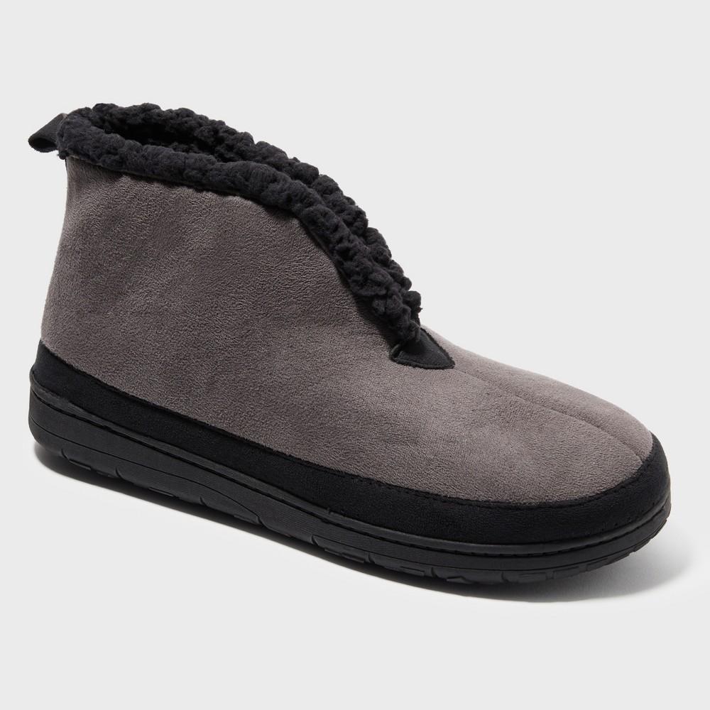 Men's Dearfoams Bootie Slippers - Black L