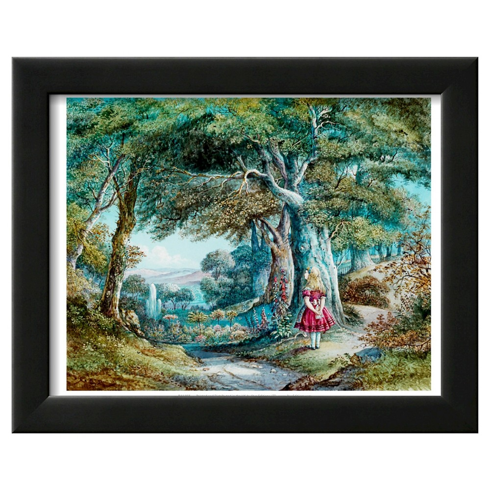 Art.com Alice in Wonderland Framed Art Print, Pumpkin