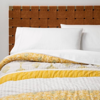 Full/Queen Printed Quilt Yellow Band - Opalhouse™