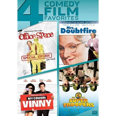 Office Space / Mrs. Doubtfire / My Cousin Vinny / Super Troopers (DVD)(2014)