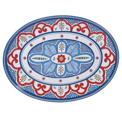 16  x 12  Earthenware Tangier Oval Serving Platter Blue - Certified International